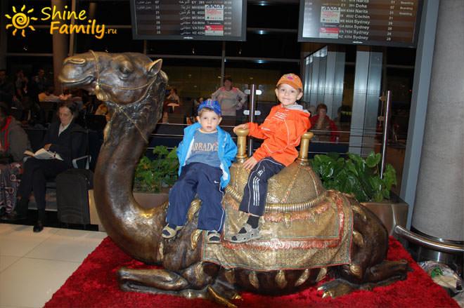 Приветливый верблюд встретил нас в зале ожидания аэропорта Абу-Даби