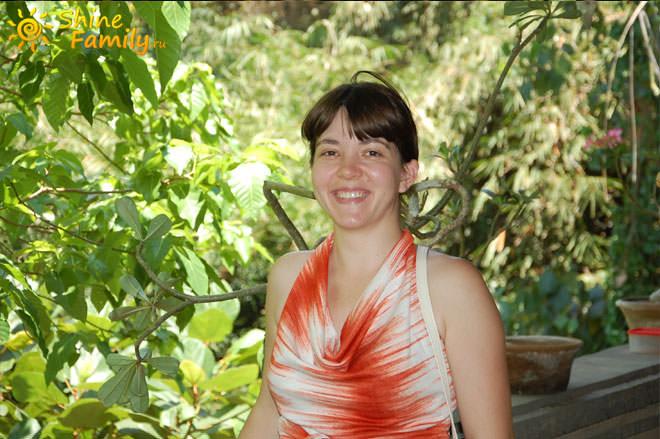 Ирина и джунгли Бали. Вид с нашей веранды