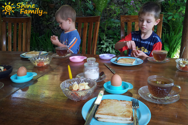 Завтрак в Убуде